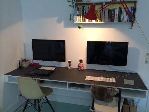 Hjemmelavet skrivebord...